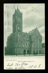 New Jersey NJ postcard Newark, Post Office Vintage 1907
