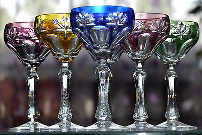verres a vin roemer cristal allemand colore collection on ebay. Black Bedroom Furniture Sets. Home Design Ideas