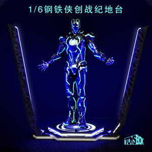Toy-Box-1-6-LED-Tron-Legacy-Iron-Man-Platform-12-039-039-action-Figure-Doll-Site-model
