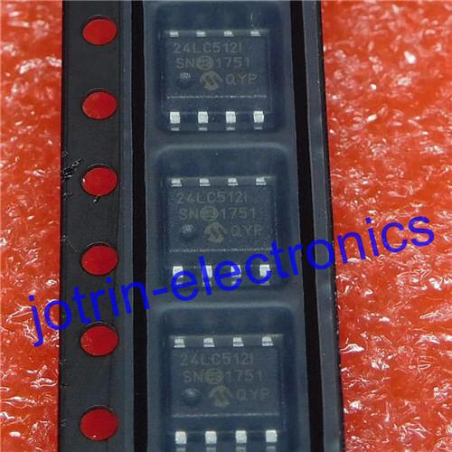 Integrated Circuits (ICs) 10PCS 24LC512-I/SN SOIC-8 EEPROM