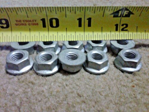 100 pcs M8-1.25 Metric coarse class 10  Flange Hex Dacromet Coated  Flange Nuts