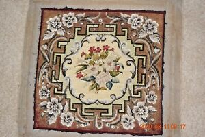 Victorian-antique-beadwork-tapestry-needlepoint-petit-point-panel-floral-geomet