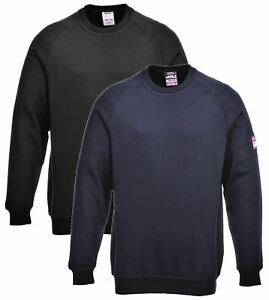 Portwest FR12 ModaFlame Mens FR Sweatshirt Long Sleeve Flame Retardant Workwear