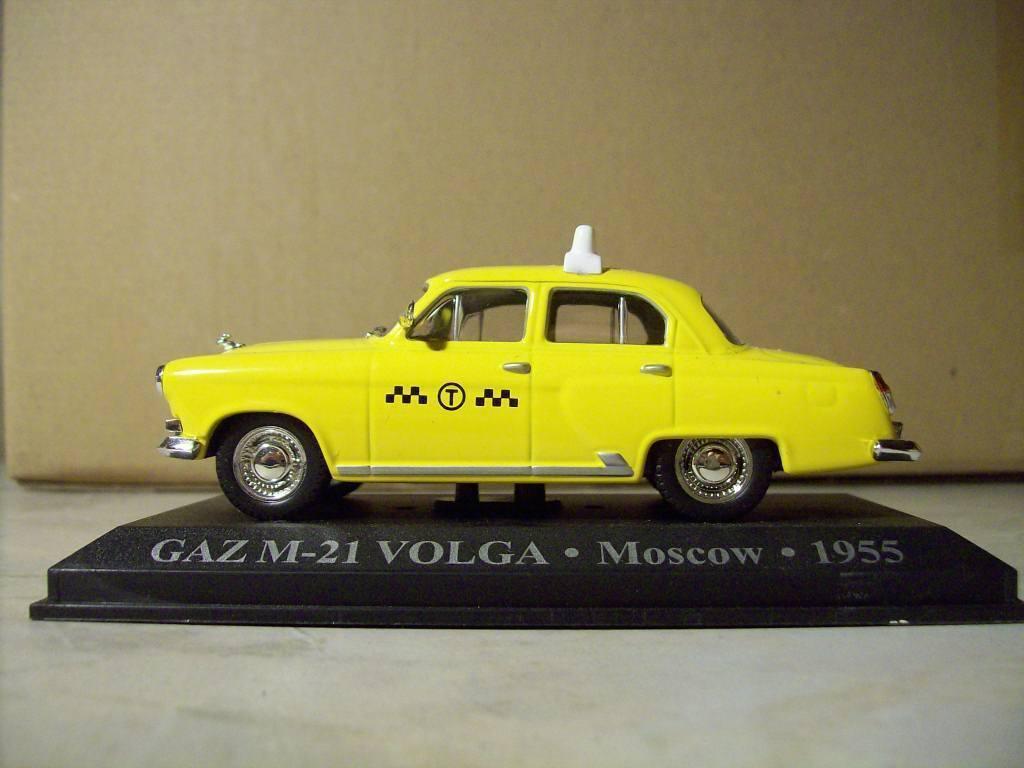 MODELLO DIE CAST SCALA 1 43 TAXI GAZ M-21 VOLGA VOLGA VOLGA MOSCOW 1955 ( d4 )  los nuevos estilos calientes