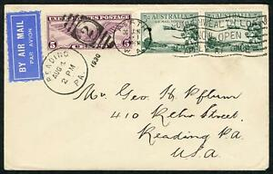 30-June-1930-AAMC-67a-Perth-Reading-Pennsylvania-USA-airmail-cover
