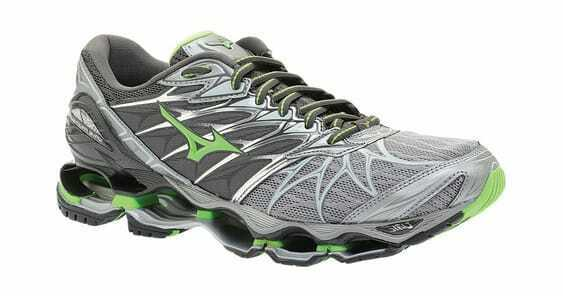 37285a2b5 Mizuno Wave Prophecy 7 shoes Monument Green Slime Men s Running ...
