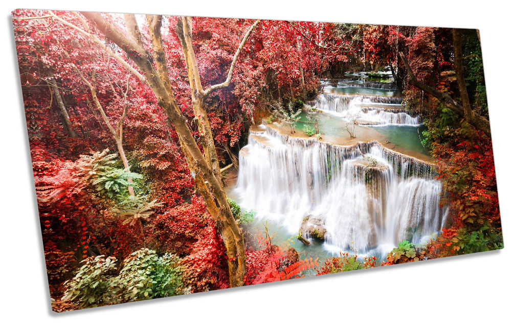 rot Tropical Landscape Picture PANORAMIC CANVAS WALL ART Print