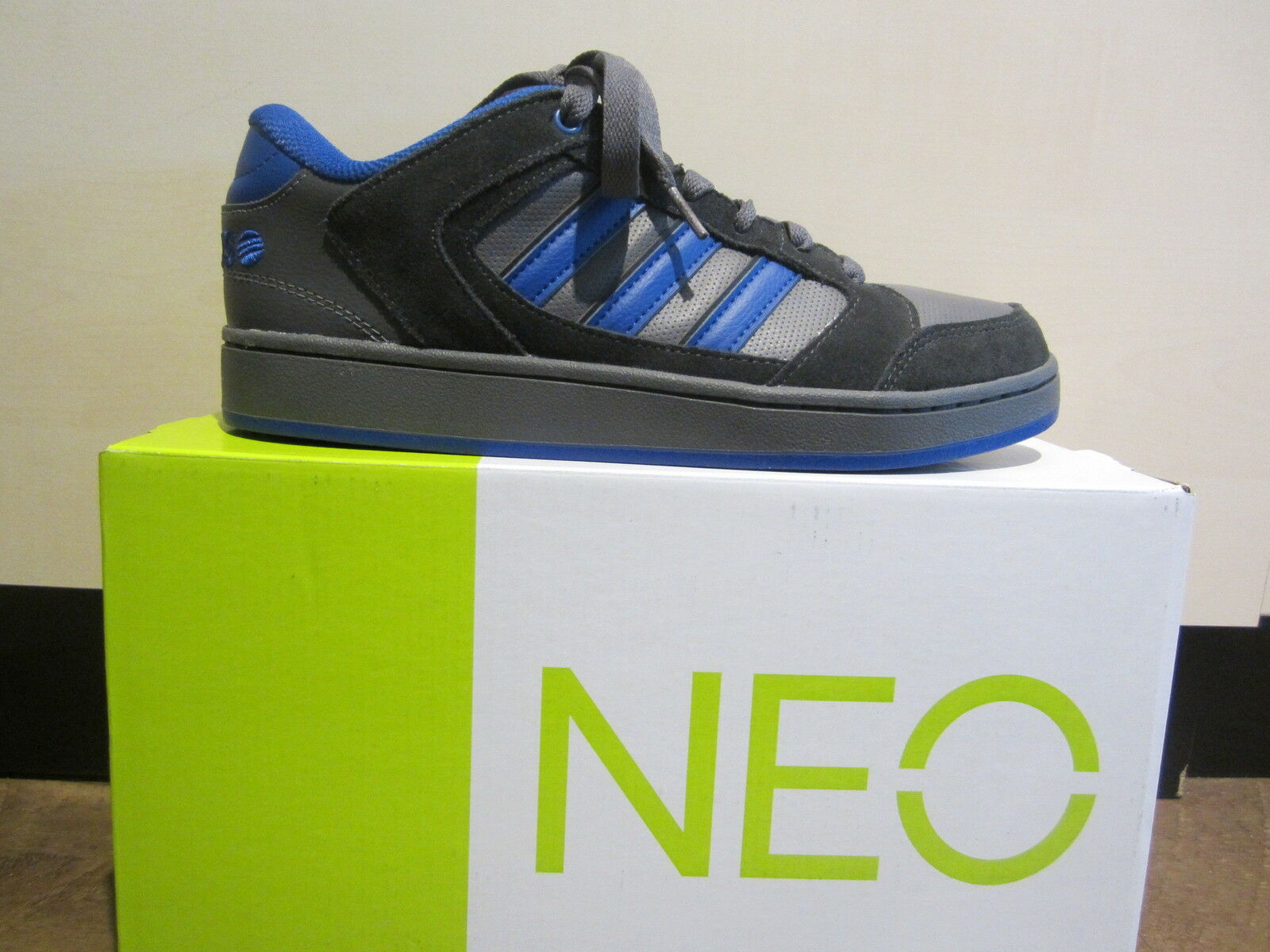 adidas Schnürschuh Chualar grau/blau grau/blau Chualar Leder/Synthetik NEU bc61df