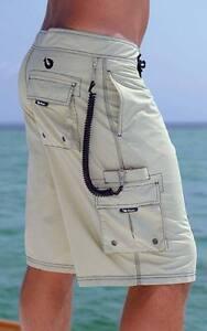 Mojo traditional board short fishing surfing cargo pocket for Fishing board shorts