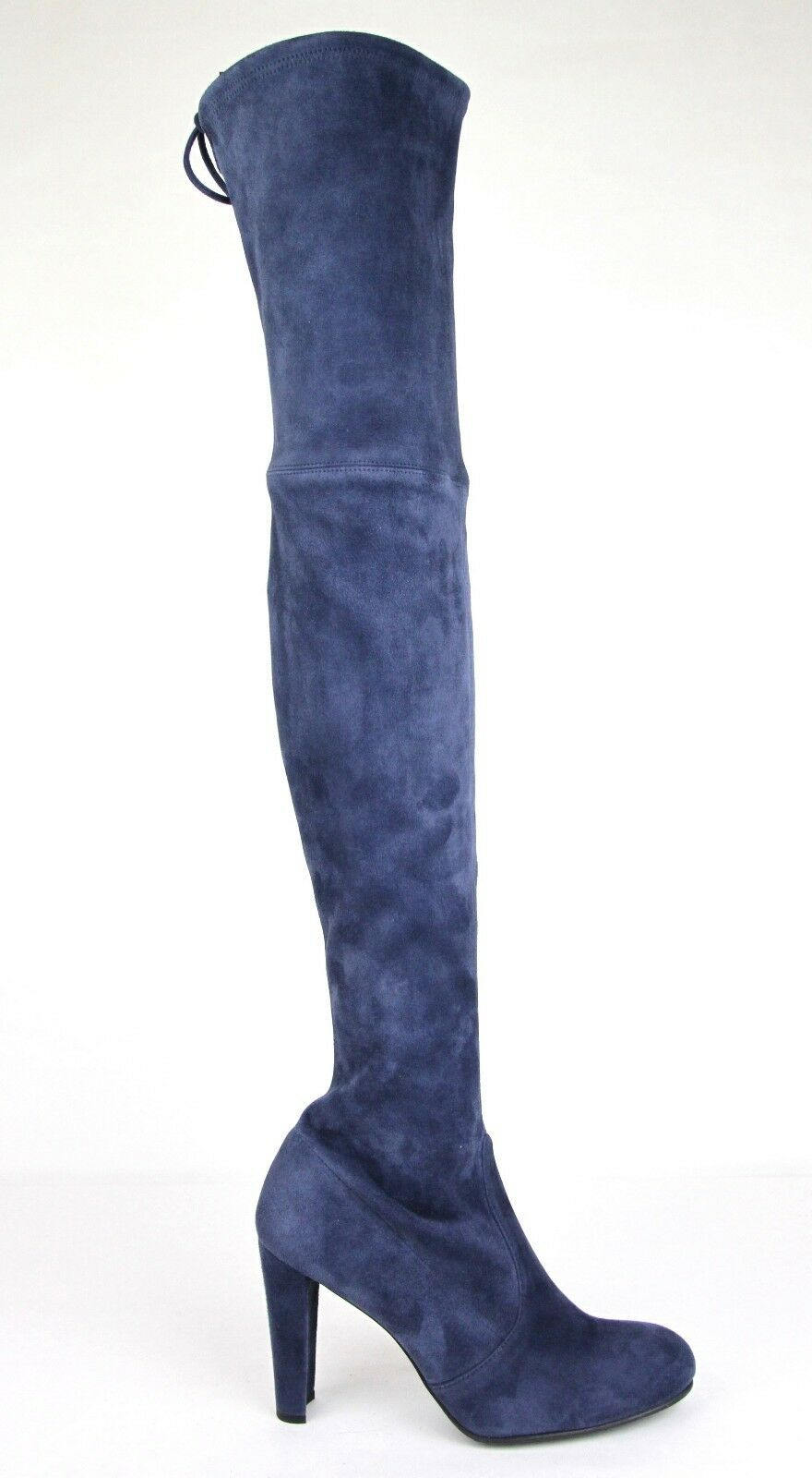 798 Nueva Stuart Weitzman agradable azul Suede Highland over-the-Rodilla Bota