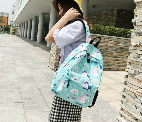 Woman unicorn rucksack girls school bag outdoor backpack handbag purse