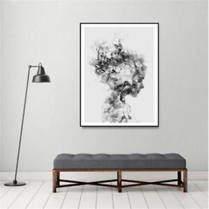 Details About Abstract Black White Woman Canvas Print Art Painting Home Wall Decor Unframed