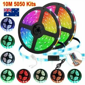 10M-RGB-5050-SMD-LED-Strip-Lights-Full-Kit-44-Key-Remote-controller-12V-AU-Power