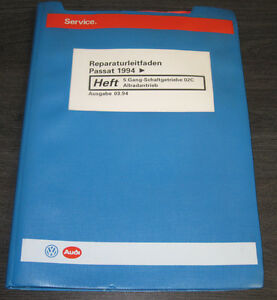 Werkstatthandbuch-VW-Passat-B4-Typ-3A-5-Gang-Getriebe-02C-Synchro-Allrad-ab-1994