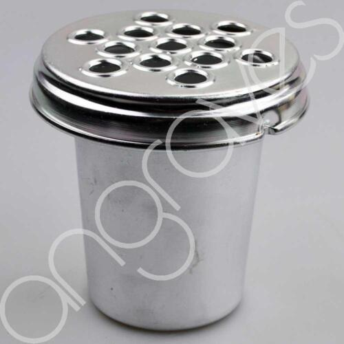 Silver Metal Grave Vase with Lid For Fresh and Artifical Flowers Pot Ho 5 Inch