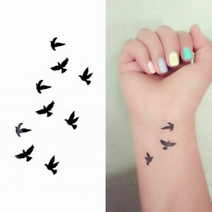 Details About 3 Sheet Sexy Bird Tattoo Temporary Tattoos Sticker Body Art Fake Tatoo Style Diy