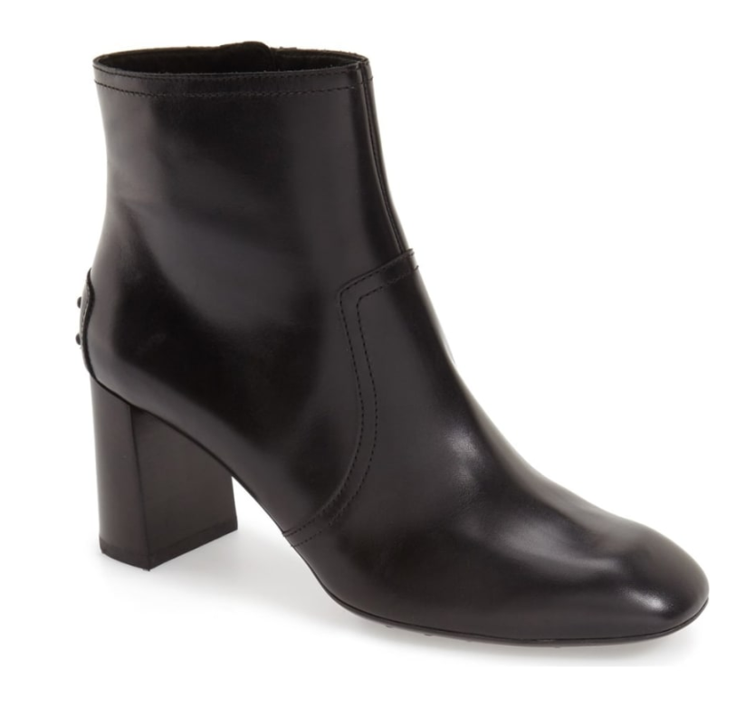 Tod's Women's Black Square Toe Retro Bootie Sz 40.5 EUR 3047