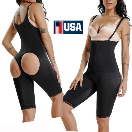 Full Body Shaper Powernet Shapewear Post Surgery Girdle Fajas Bodysuit-US