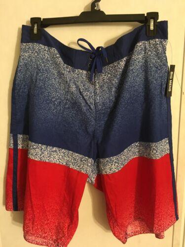 Blue NWT Men/'s Swim Shorts Suit SZ 2XL Lined XXL Black