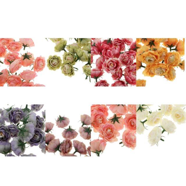 Lot of 30pcs Artificial Camellia Bud Silk Flower Heads DIY Bouquet Home Decor