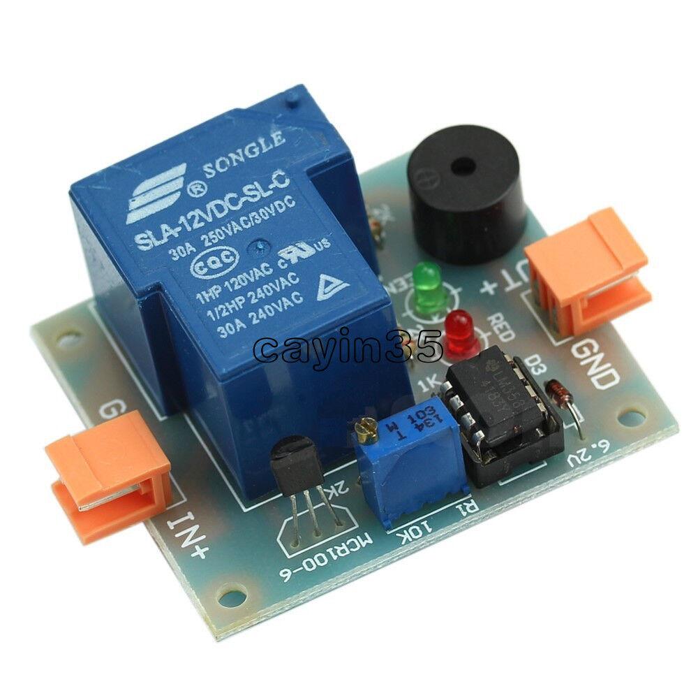 12v Low Voltage Accumulator Sound Light Alarm Prevent Over Discharge Controller