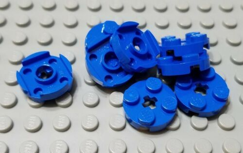 New LEGO Lot of 8 Blue 2x2 Round Plates