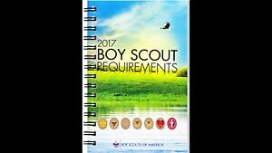 BOY-SCOUTS-OF-AMERICA-2017-REQUIREMENTS-HAND-BOOK-SPIRAL-BOUND-PAGES-LAY-FLAT