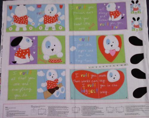poco Cachorro patrón 3358P Libro HUGGABLE /& Adorable Panel .100/% algodón