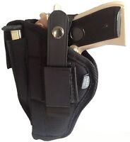 Gun Holster Belt Or Clip On Fits Beretta Cheetah Ambidextrous Black Nylon Wsb-33