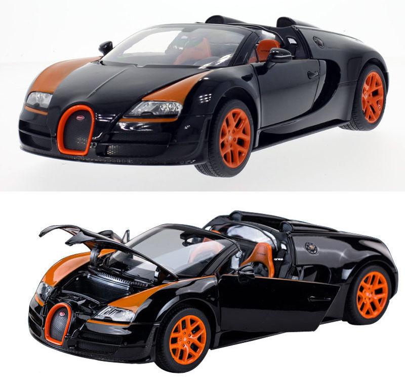 2014 Bugatti Grand Sport Vitesse noire Voiture Miniature 1 18 Rastar 43900