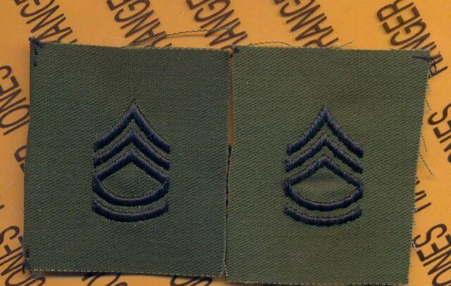 military US GI womens staff sergent E-6 dress class A patch pair of 2