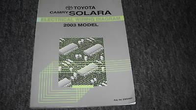 2003 Toyota CAMRY Solara Electrical Wiring Diagram Service ...