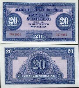 AUSTRIA 20 SCHILLINGS 1944 P 107 UNC