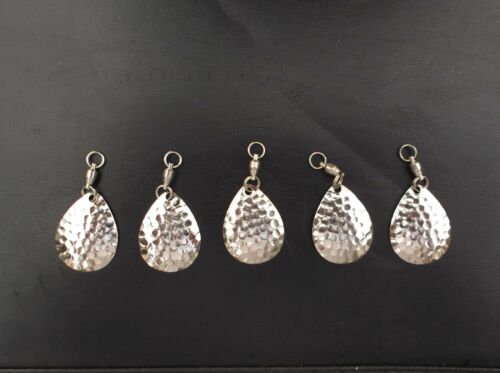 COLORADO SPINNERBAIT BLADES #4 HAMMERED  SILVER W// #3 SAMPO SWIVEL PK OF 20