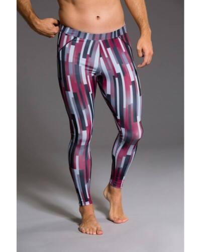 Onzie Hot Yoga Mens Legging 505 Linear Geometric
