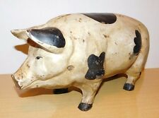 "17"" Vintage Cast Iron Pig Door Stop - Approx 25 Lbs. Farm Animal Yard Art"