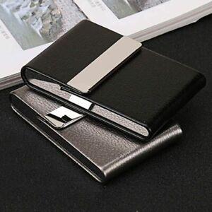 Smoking-Cigarette-Case-Cigar-Storage-Box-Stainless-Steel-Tobacco-Leather-Holder