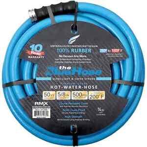 Image is loading The-Blue-Hose-High-Flex-100-Rubber-500-  sc 1 st  eBay & The Blue Hose High Flex 100% Rubber 500 PSI HD Water Hose 5/8