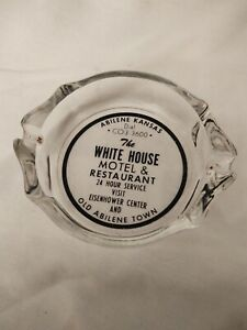 Ashtray Promotional Abilene KS White House Motel & Restaurant