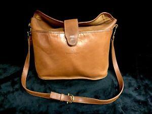 4161158d12 Image is loading Vintage-Etienne-Aigner-Brown-Leather-Shoulder-Bag