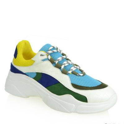 Shoe Republic LA WANDER Orange Stretch Knit Pull On Low Top Sock Sneaker