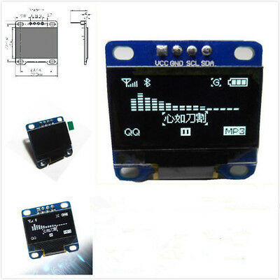 "0.96"" I2C IIC SPI Serial 128X64 White OLED LCD LED Display Module for Arduino BU"