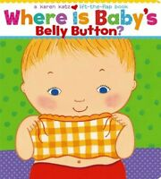 Where Is Baby's Belly Button?, Children Interactive Board Books Bedtimes Stories on sale