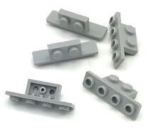 6 x lego 10201 Plate Support//Holder Black, Black Bracket Flat 1x2//1x4 New New