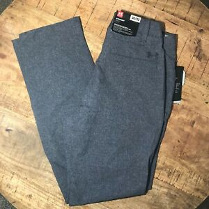 Under-Armour-Pants-Loose-Stretch-Waistband-Gray-1259430-008-Mens-30x32