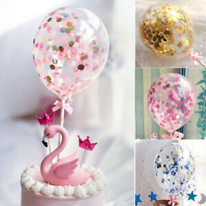 Colore-Confettis-Latex-Ballon-Gateau-Insert-Cake-Topper-Anniversaire-Decor