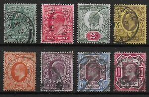 KEVII-Small-Fine-V-Fine-Used-Group-With-Values-To-10d-Bright-Colours-Ref-12123