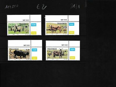 South Africa Unmounted Mint / Never Hinged E Transkei 210-213 complete Issue