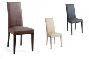 4 sedie cheyenne faggio ecopelle cucina salotto soggiorno for Sedie x salotto
