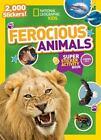 NG Sticker Activity Bks.: National Geographic Kids Ferocious Animals Super Sticker Activity Book : 2,000 Stickers! by National Geographic Kids (2015, Paperback)